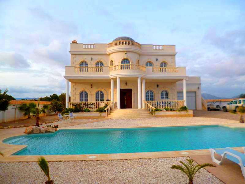 An impressive mansion style 18 month old quality built detached villa with 3 large bedrooms the mas, Spain