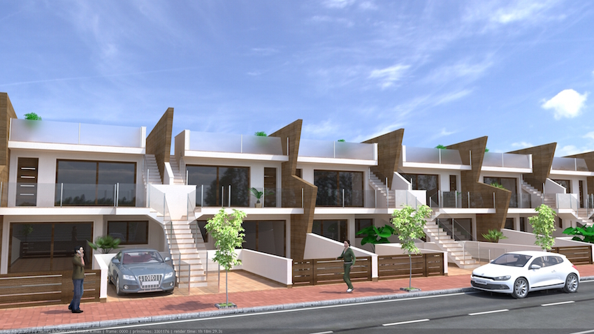 Stylishly designed two bedroom, two bathroom top floor apartments with large roof solarium a,Spain