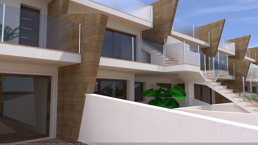 Stylishly designed three bedroom, two bathroom ground floor apartments with front terrace and ga,Spain